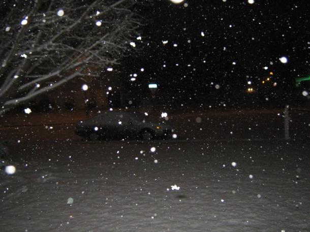 Snow again in SE Virginia...