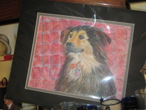 Our Therapy Dog International, FLOWER/TDIAOV - Pencil drawn. Her eyes are captured beautifully.