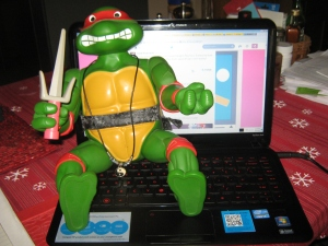 """Teenage Mutant Ninja Turtle"" Raphael, 1989."